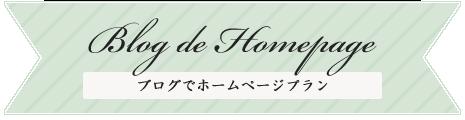 ブログでホームページ